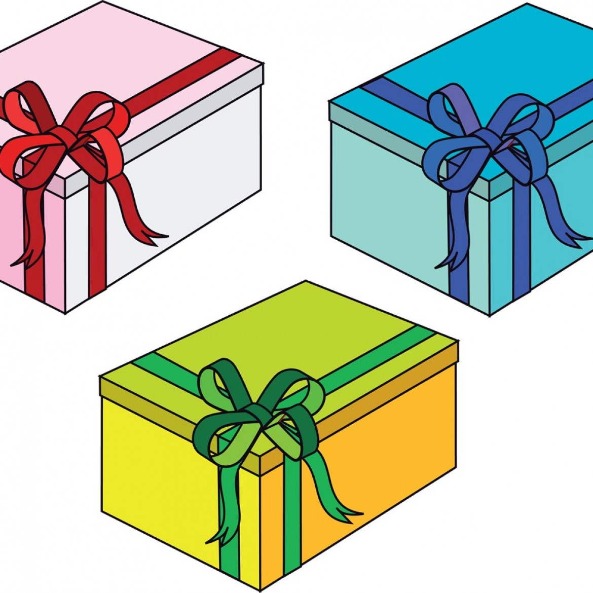 Free vector Gift Boxes #9407