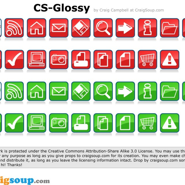 Free vector Glossy Vector Icons #8868
