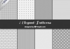 Free vector Gray geometric patterns collection #11308