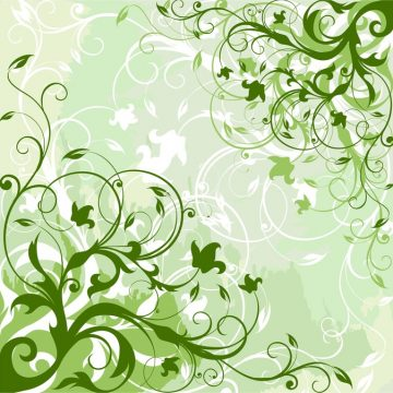 Free vector Green Floral Background #5814