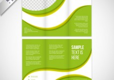 Free vector Green waves brochure #6537