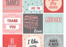 Free vector Greeting cards collection #5892
