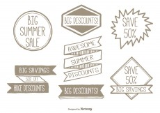 Free vector Hand Drawn Promotional Label Set #4295