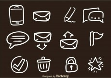 Free vector Hand Drawn SMS Vector Icons #11293