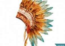 Free vector Hand painted indian headdress #9460