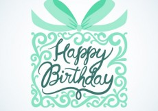Free vector Happy birthday card with ornamental gift #9945