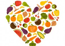 Free vector Heart made of healthy food #11020