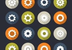 Free vector Icons of gears #5829