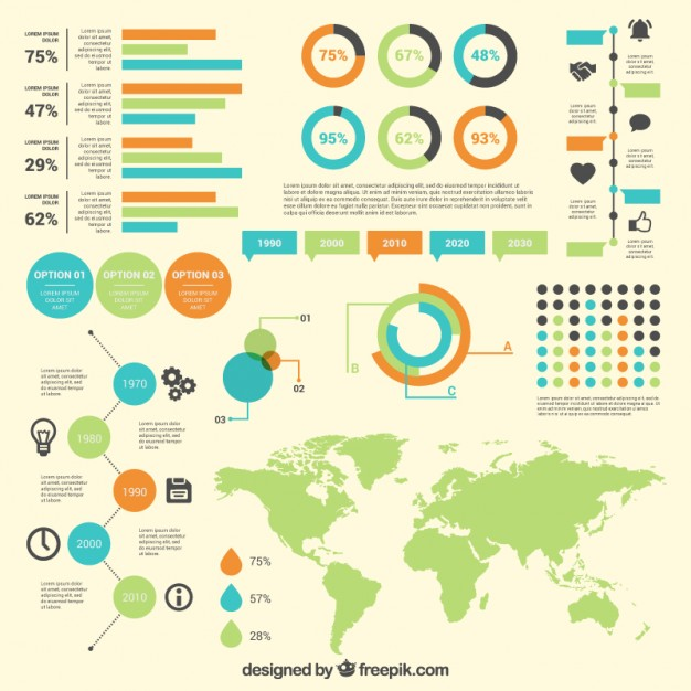 Free vector infographic diagrams with world map 12209 my graphic hunt gumiabroncs Choice Image