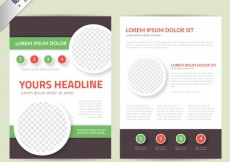 Free vector Leaflet template #6580