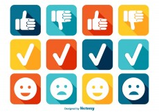 Free vector Like and Dislike Icon Set #8308