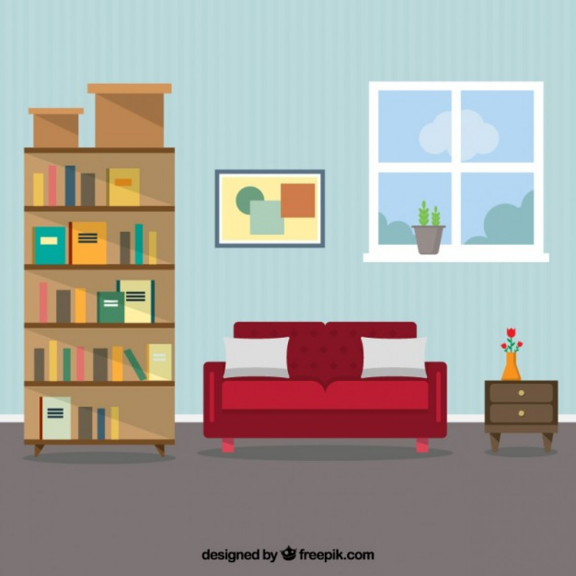 Free Vector Living Room Interior 6381 My Graphic Hunt
