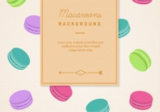 Free vector Macaroons background #5274