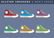Free vector Men's Shoes Free Vector #11481