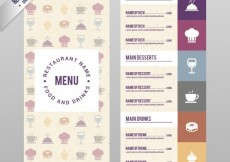 Free vector Menu template with icons #7458