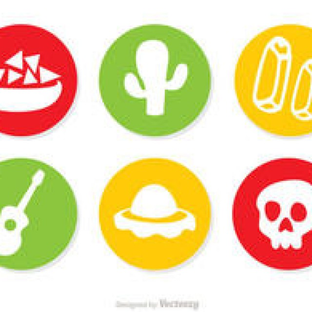 Free vector Mexican Icons Vectors Pack 1 #4386