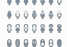 Free vector Microphone icons #5430
