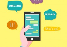 Free vector Mobile phone chat #7635