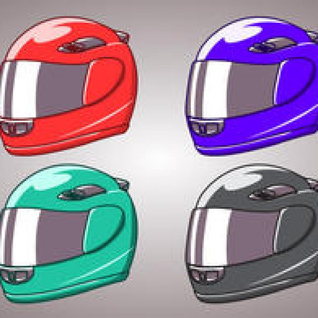 Free vector Motorcycle Helmet Isolated #4563