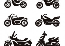 Free vector Motorcycle silhouettes #8211