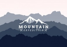 Free vector Mountain expedition logo #6715