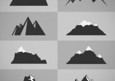 Free vector Mountain silhouettes #7178