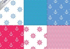 Free vector Nautical patterns #5416