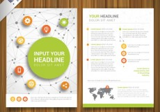 Free vector Network brochure #9152