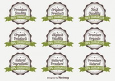 Free vector Organic Quality Vector Badges #4586
