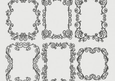 Free vector Ornamental frames collection #4414