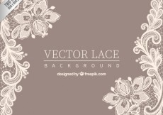 Free vector Ornamental lace background #9043