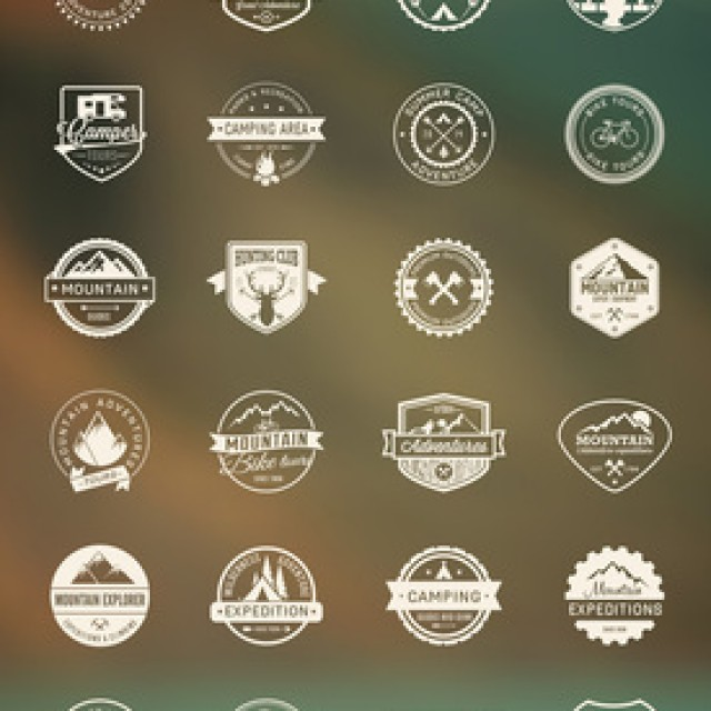 Free vector Outdoor Camping Icon Set #5316
