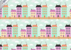 Free vector Pattern with colored buildings #4469