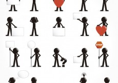 Free vector People icons with signs and symbols #5227