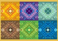 Free vector Pixelated Aztec Patterns #7048