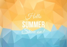 Free vector Polygonal summer background #11895