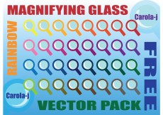 Free vector Rainbow Magnifying Glass Vector Pack #8678