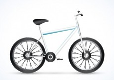 Free vector realistic bicycle #4836
