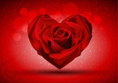 Free vector Red Rose in The Shape of Heart #7340