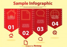 Free vector Red Simple Infography Vectors #6565