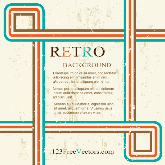 Free vector Retro Background Design Graphics #5023