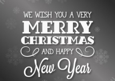 Free vector Retro christmas card in typographical style #11480
