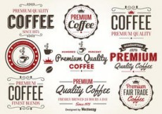 Free vector Retro Coffee Label Vectors #4578