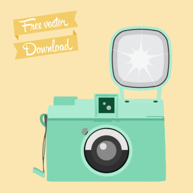 Free vector Retro Mint Camera #5108