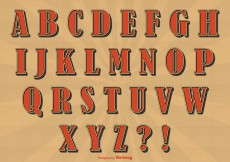 Free vector Retro Style Alphabet Set #11558