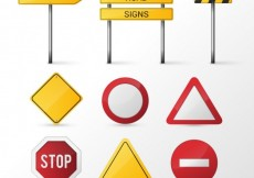 Free vector Road signs #7012