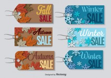 Free vector Season clearance sale labels #10684
