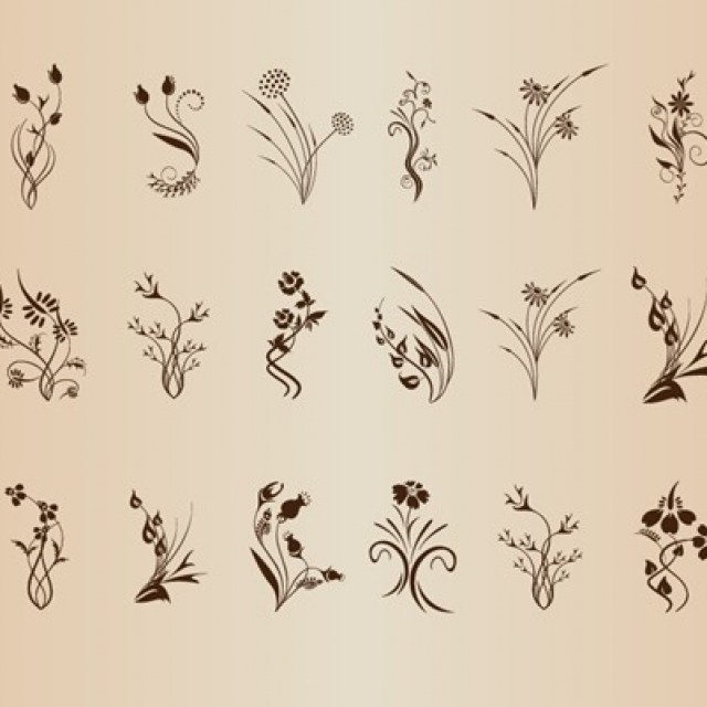 Free vector Set of Floral Design Element #5265