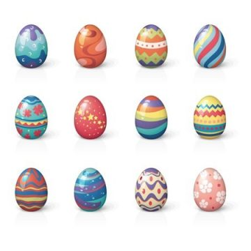 Free vector Set of Twelve Easter Eggs #5340