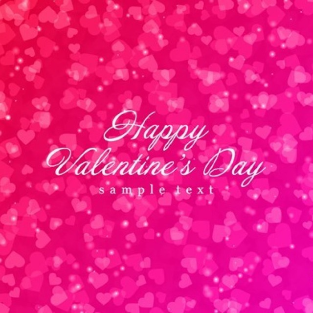 Free vector Shiny Hearts Bokeh Light Valentine's Day Background #7394